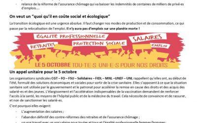 Points de compétences et Grève du 05 octobre 2021